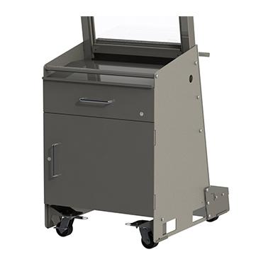 Standard Desk Unit w/Locking Drawer & Cabinet Combo