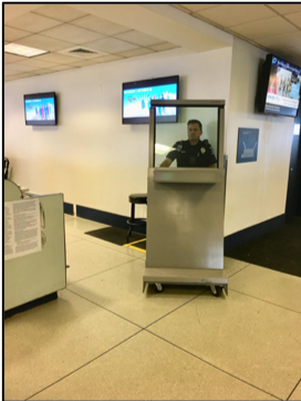Airport Security Officer Behind MDFP